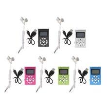 OOTDTY MX-808 Mini USB de Alumínio Tela De LCD 32 GB Micro SD TF Cartão de Música Digital MP3 Player