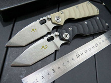 5PCS/LOT Custom ST-1 Knives Tactical Survival Folding Knife Stonewashed 5Cr13MOV 56HRC Blade G10 Handle Camping hunting Tools
