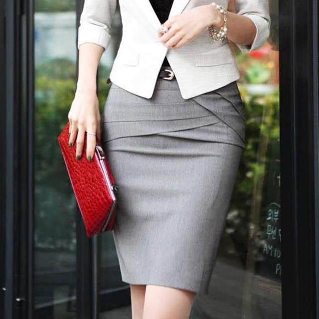 8a8257334 2018 Oficina vestimenta faldas de las mujeres de la moda carrera faldas  Formal OL ropa Slim