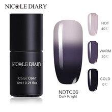 NICOLE дневник изменение температуры Светодиодная УФ-лампа для ногтей Гель-лак для ногтей замочить от изменения цвета Гель-лак термальный гель для ногтей