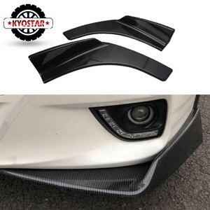 Image 1 - Universal Car Front Deflector Spoiler Splitter Diffuser Bumper Canard  Lip Body Shovels Carbon Fiber Look  Bumper Splitters