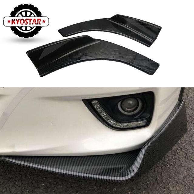 Universal Car Front Deflector Spoiler Splitter Diffuser Bumper Canard  Lip Body Shovels Carbon Fiber Look  Bumper Splitters