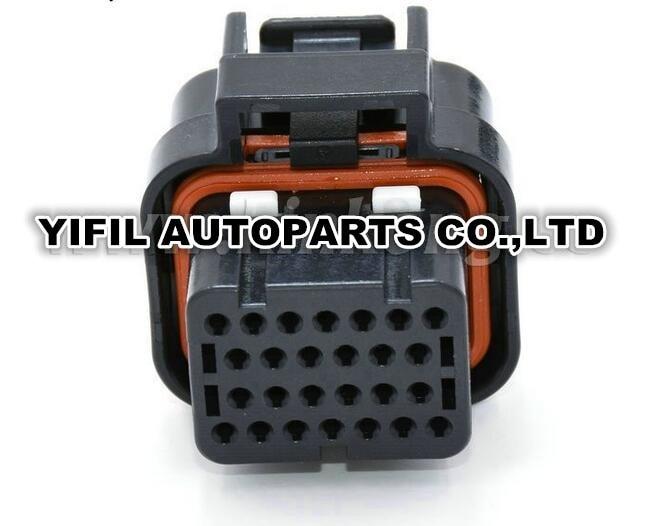 imágenes para 1 unids 26 pin/camino TE Connectivity Cerradura Sellada Auto ECU Conectores AMP Quad Fila Superior 3-1437290-8