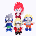 Free shipping Cartoon Anime JUMP COMICS Uzumaki Naruto Plush toys 4 style Creative doll dolls Children 's birthday present