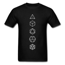 Platonic Solids Sacred Geometric T-Shirt Shapes Math Proportion The Big Bang Theory Science Men Tops T Shirt 100% Cotton Custom