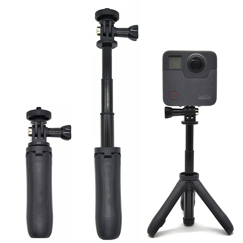 Handheld Mini Tripod Mount Selfie Stick Extendable Monopod for Gopro Hero 6 5 4 3+ SJCAM Xiaomi YI 4k EKEN H9 Sony Sport Camera aluminium handheld monopod with tripod mount adapter for xiaomi gopro