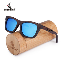 BOBO BIRD Nature Wooden Sunglasses For Women And Men With Creative Design On Legs And Blue Polarized Lens As Best Gift C-BG006d