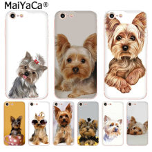 MaiYaCa cachorro Yorkshire terrier Mais Recente Moda de Luxo caixa do telefone para o iPhone Da Apple 8 7 6 6 s Plus X 5 5S SE XS XR XS MÁXIMA Cobertura(China)