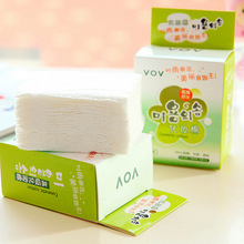 100pcs/Pack Organic Korea Cotton Makeup Remover Pads Soft Napkins Pads Cosmetic Face Cleansing Care Facials Make Up Supply