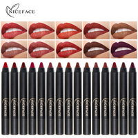 NICE FACE 15 Colors Waterproof Long Lasting Lip Makeup Red Lipstick Matte Lip Gloss Lipgloss Cosmetics Stick Sexy Colors