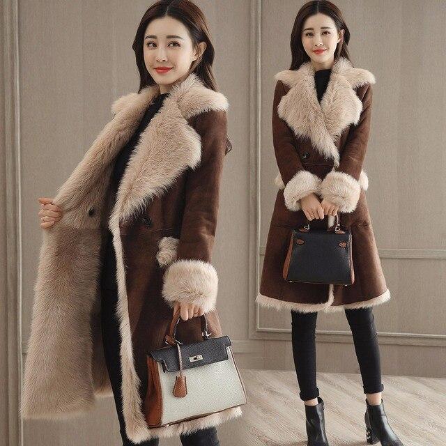 Veste fausse fourrure mouton femme