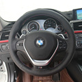 Brand New Anti Slip Black Leather Steering Wheel Stitch on Wrap Cover For BMW 320 Li 13 A Style