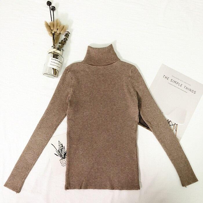 Женские свитера, зимние топы, водолазка, свитер для женщин, тонкий пуловер, джемпер, вязаный свитер, Pull Femme Hiver Truien Dames, новинка - Цвет: Хаки