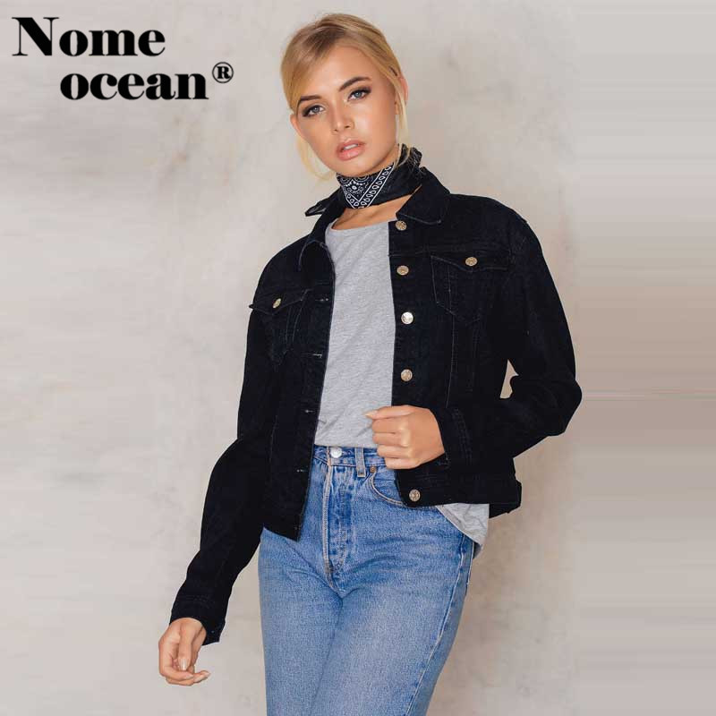 50-70%off performance sportswear best loved US $28.99 30% OFF|Single Breasted Jean Jackets Girl Power Letter Print Back  Women Coats 2018 New Arrival Button up Denim Coat Black M17022822-in ...