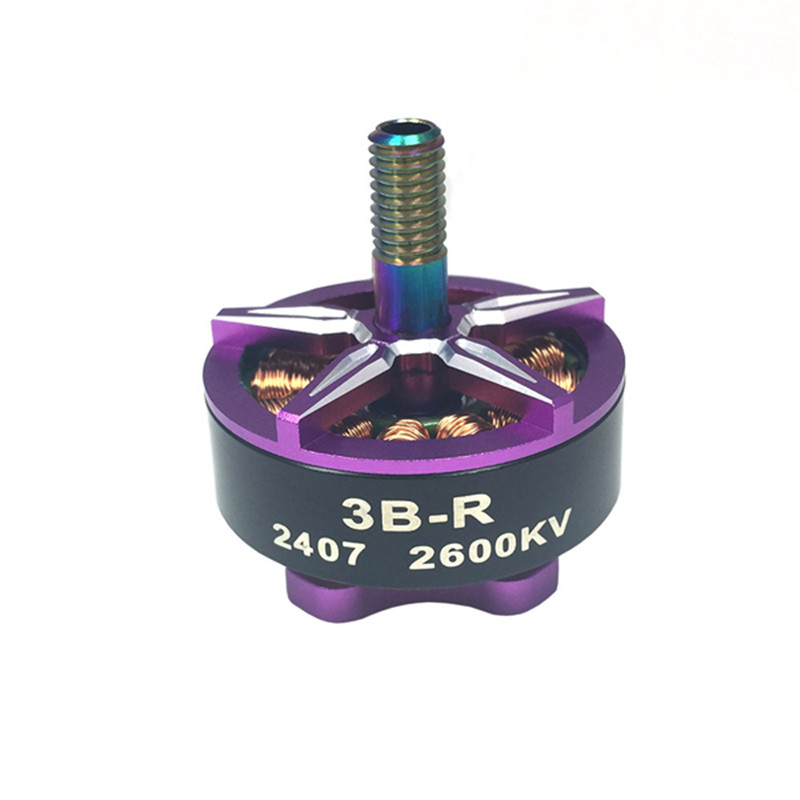 3B-R 2407 2600KV 2-5S CCW Thread Brushless Motor for RC Quadcopter Frame Propeller FPV Racing Multirotor Models Part 4set lot universal rc quadcopter part kit 1045 propeller 1pair hp 30a brushless esc a2212 1000kv outrunner brushless motor