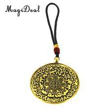 5,5 ''Vintage tibetano budismo ocho diagramas en forma de aperitivo amuleto colgante decorativo para el hogar