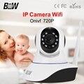 BW HD 720 P Wifi Câmera IP P2P Sem Fio Inteligente de Controle Remoto Monitor do bebê Visão Noturna Cam SD Slot 3.6mm Endoscópio em Dois Sentidos áudio