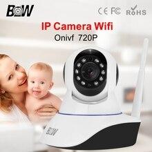 BW HD 720 P Wifi Cámara IP Inalámbrica P2P Control Remoto Inteligente Baby Monitor de Visión Nocturna Cam Ranura SD 3.6mm Endoscopio de Dos Vías Audio