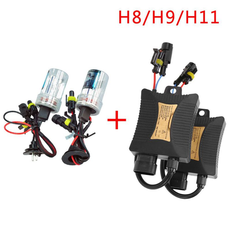 12V 55W H8/H9/H11 HID Xenon Headlight Conversion KIT 12V 3000K 4300K 5000K 6000K 8000K 10000K 12000K h1 3000k 4300k 5000k 6000k 8000k 10000k 12000k 30000k hid xenon lamp bulb12v35w factory sale lowest price