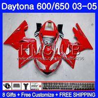 Body For Triumph Daytona600 Factory red Daytona 650 02 03 04 05 125HM.10 Daytona650 Daytona 600 2002 2003 2004 2005 Fairing kit