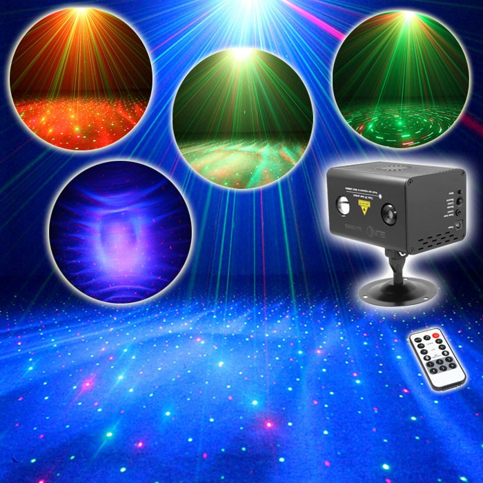 Remote Water Galaxy Effect Full RG Stage Laser Light Color RGB LED Light Fiesta Stage Party illumination Meteor Shower LL-100RG