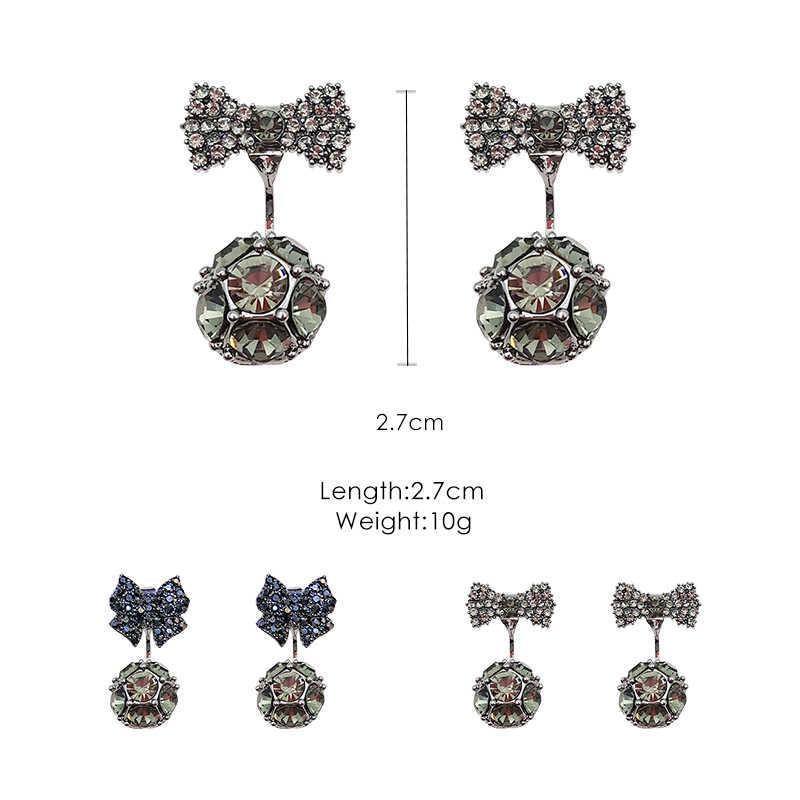 925 الفضة إبرة بسيطة الأقراط اثنين ارتداء الأقراط الإناث مزاجه شخصية البرية الأذن كليب دون مثقوب آذان