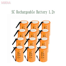 15PCS SC 1.2V 3200MAH rechargeable battery 4/5 Sub C ni-cd cell with welding tabs for electric drill screwdriver