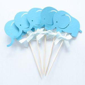 Image 3 - 10Pcsสีชมพูช้างToppers Picks Cupcake Topperอาบน้ำเด็กอุปกรณ์เด็กเด็กวันเกิดเบเกอรี่เค้กParty Decor