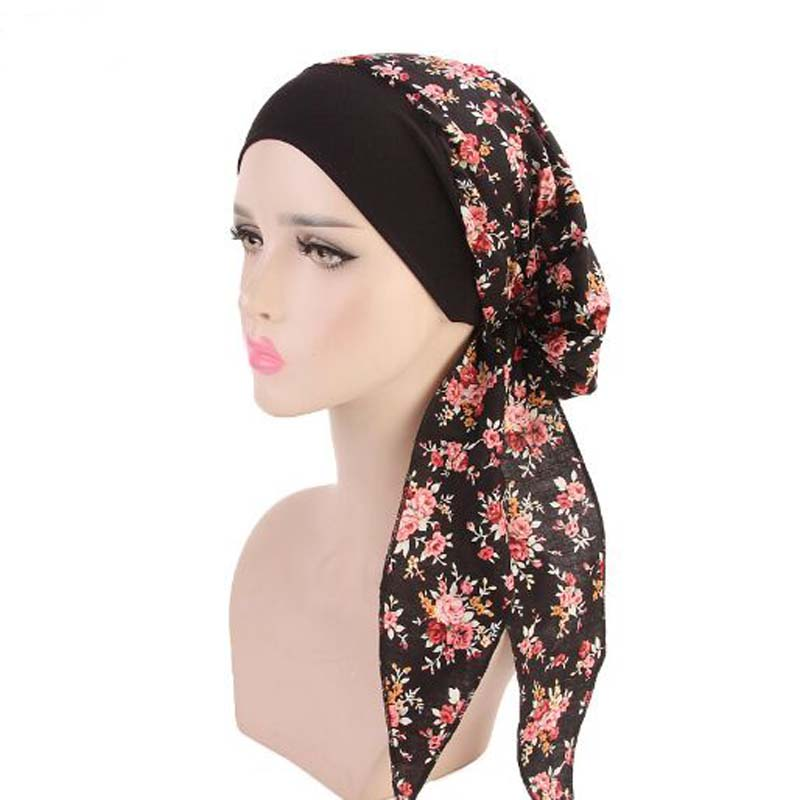 XEONGKVI Rural Wind Elastic Hair Band Pirates Hat Spring Autumn Brand Cotton Hats For Women Chemotherapy Cap Bandanas