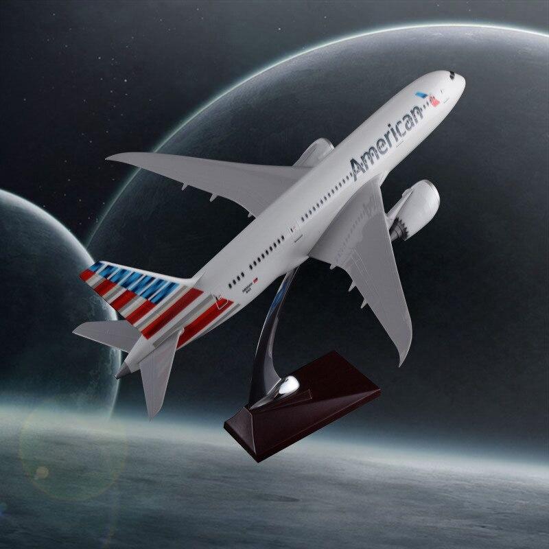 43 cm résine Boeing 787 avion modèle américain compagnie aérienne Airways B787 Airbus modèle avion modèle voyage Souvenir jouet cadeau