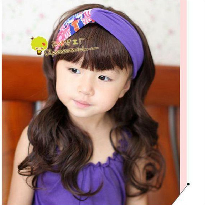 2015 Korean Baby Girl Long Wavy Cute Black Haircuts Wigs Deti Parik