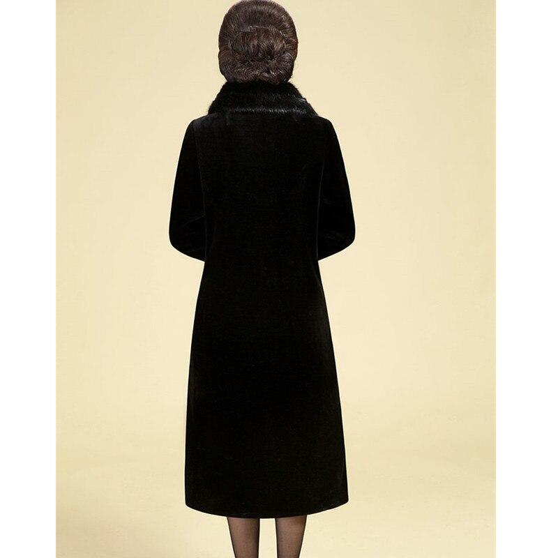 Noir Grande De Veste 3xl Luxe Imitation L Manteau Femme Survêtement En Uhytgf Fourrure Taille 1166 Vison Femmes Lâche Long Peluche D'hiver TwqAExC