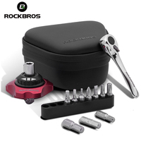 ROCKBROS 12 In 1 Ratchet Wrench Outdoor Repair Tools Multifunction Sets MTB Road Bike Carbon Torque