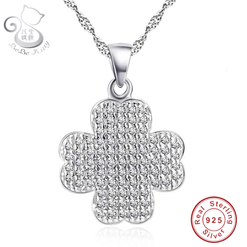 56581286c Bebe marca cruz de prata S925 cristais colar pingente para as mulheres 2016  Hot Real Sterling Silver jóias fábrica atacado