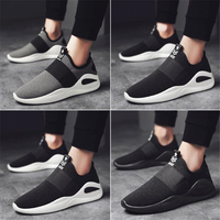 New Sports Shoes Men Breathable Net Running Shoes Boy Black Low Sneakers Fly Comfort Comfortable Wild