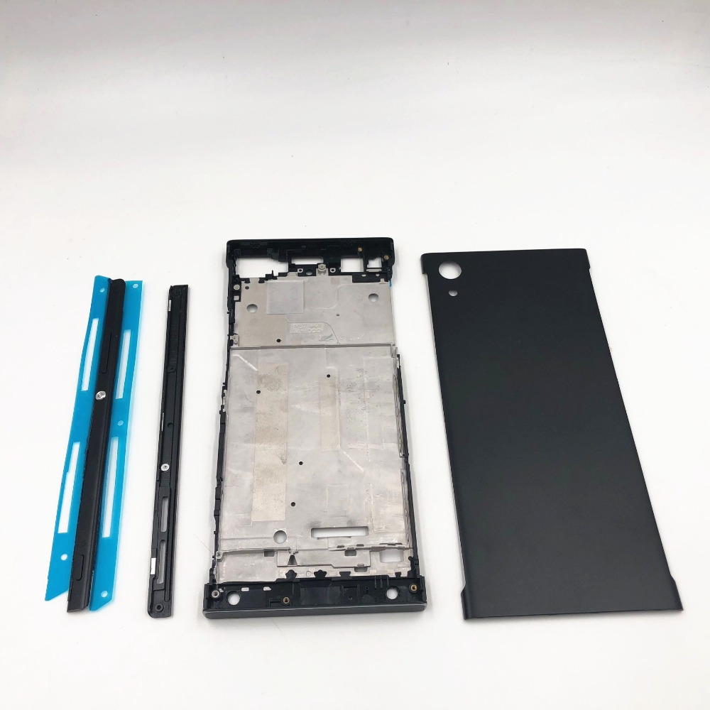 Full Housing Middle Front Frame Bezel Housing For Sony Xperia XA1 G3116 G3115 G3112+Side Rail Stripe With Side Buttons