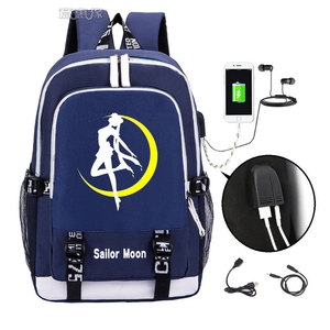 Image 2 - Sailor Moon Luminous Luna Cosplay Backpack Rucksack Women Men Japan Anime Laptop Schoolbag Mochila Bookbag