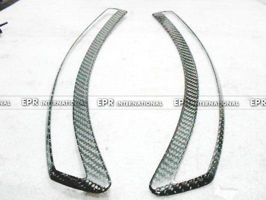 Углеродное волокно OEM Переднее Крыло вентиляционное отверстие отделка глянцевое волокно аксессуары для двигателя гоночный подходит для
