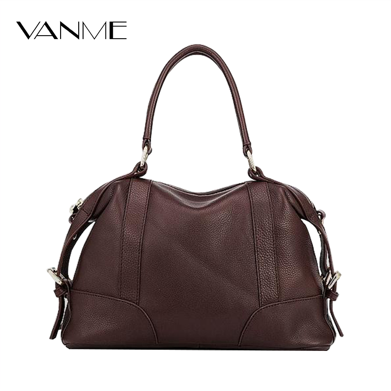New Arrive Brand Fashion Women Tote Bag High Quality GenuineLeather Handbag Ladies Solid Boston Messenger Bags Bolsa Feminina  new arrive women leather bag fashion zipper handbag high quality medium solid shoulder bag summer women messenger bag