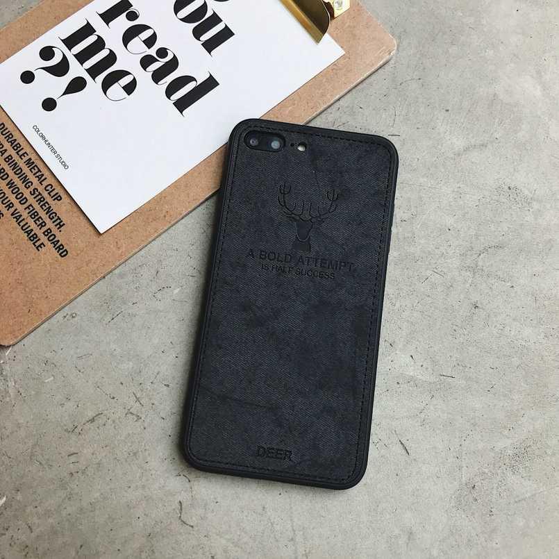 Funda de tela de ciervo para teléfono iPhone XS MAX XR X 7 8 funda de silicona suave para iPhone 6S 6 capas Shell Fundas coque Fundas