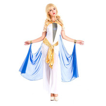 Sexy Female Disfraces Halloween Masquerade Cosplay Costumes Greece Goddess Egypt Queen Warriors Role Play Dress H1572031
