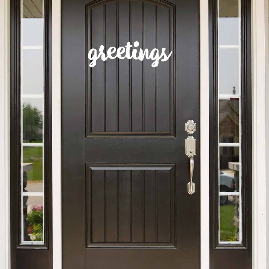 Greeting English Words Door Wall Decals Welcome Friends Wall Stickers  Waterproof Vinyl Wall Mural Home Decor Wall Mirror Decal In Wall Stickers  From Home ...