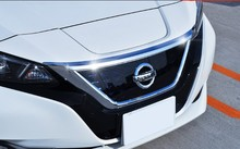 ABS Chrome Front Grille Hood Engine Cover Trim car sticker For Nissan Leaf ZE1 2017 2018 2019 accessories цена