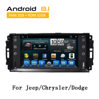 2 Din Car Stereo Auto Radio For Chrysler/ Dodge/ Jeep 2009 2011 Android 8.1 With GPS Navigation TPMS SWC Rear View Camera AUX