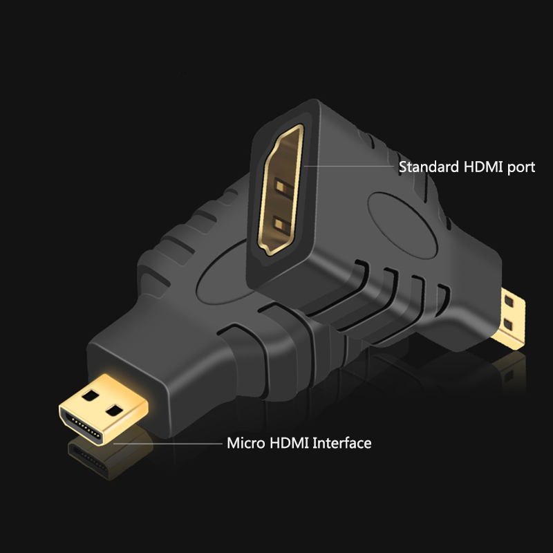 Micro HDMI To HDMI Adapter Cable 4K 1080P 1set  Mini Converter Gold Plated HD Extension Adapter Connector for Video TV for Xbox