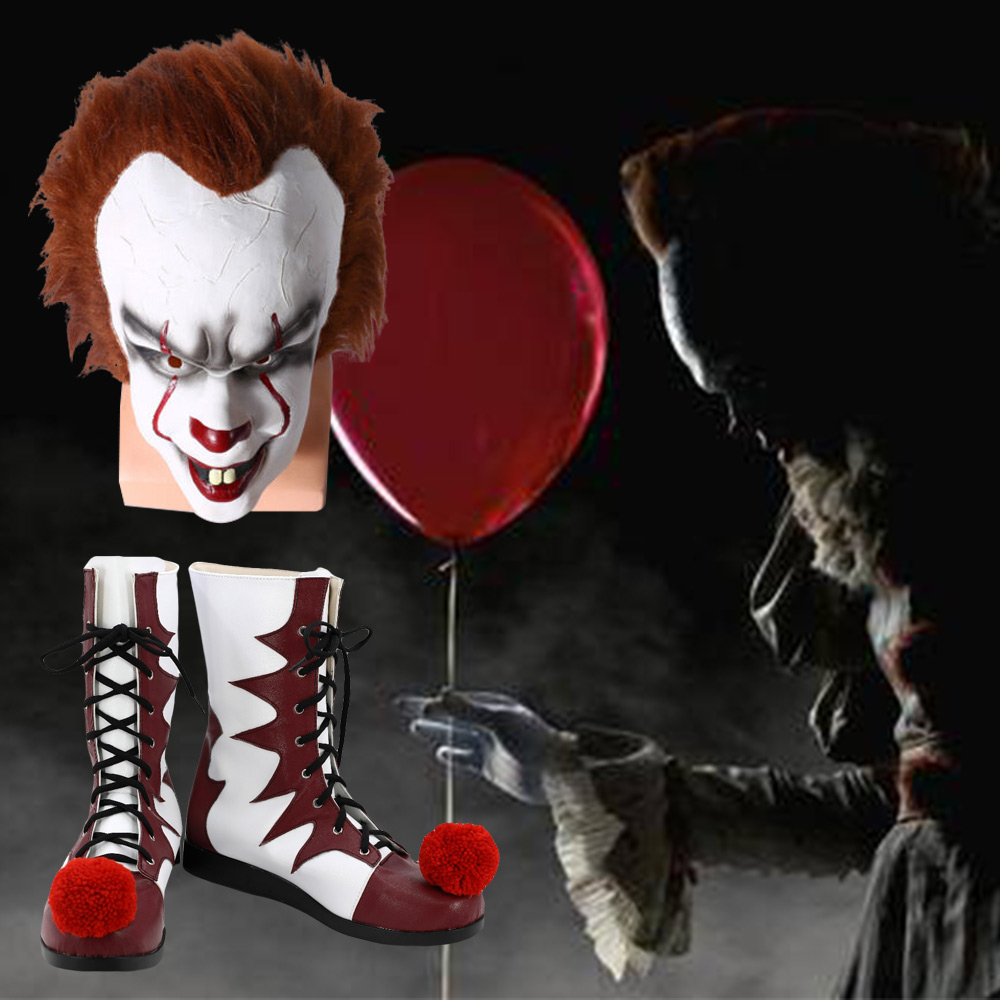 New Cosplay It Pennywise Boots Carnival Clown Boots Halloween Shoes 2019~HOT