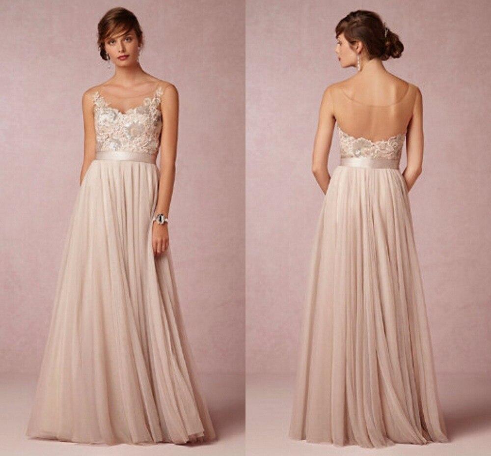 Floor Length Chiffon Backless Vintage bohemian boho Wedding Dress ...