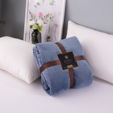 Super Soft Blanket Flannel Aircraft Sofa Use Office Children Towel Travel Fleece Mesh Portable Car Cover