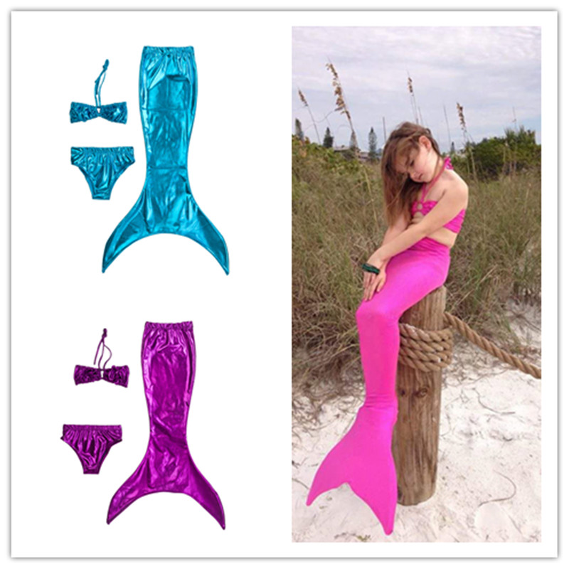 Mermaid Tail Costume for Kids Para Nadar Ariel Green Blue Ariel The Little Mermaid Costume for Girl Mermaid Tails