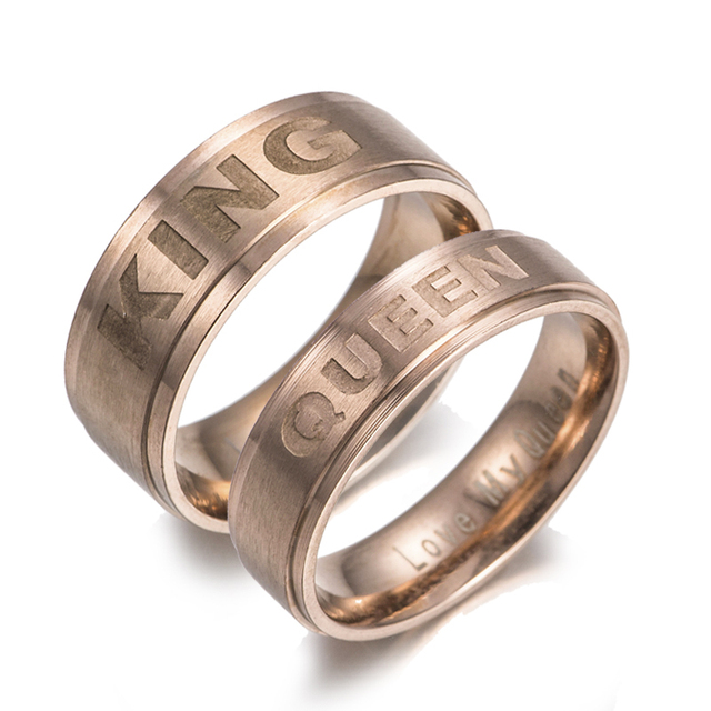 Gaxybb Hot Stainless Steel Rings Lover Design From Your Queen And